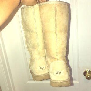 Ugg Boots Tall Sheepskin Tan
